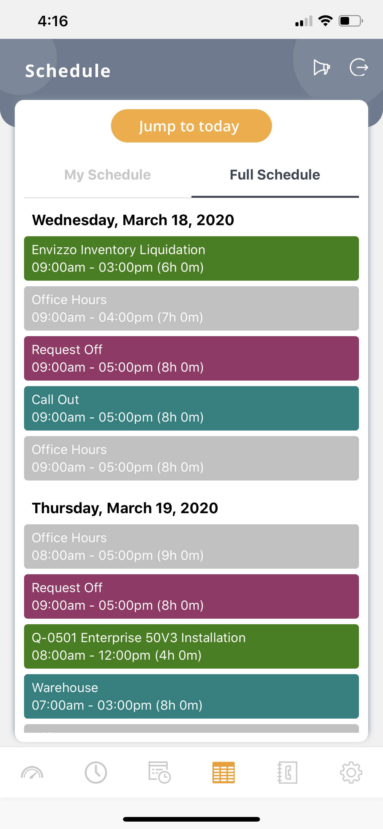 schedule-mobile