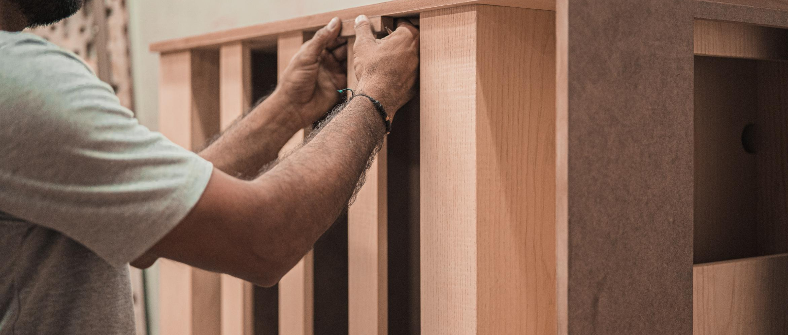 building and installing furniture